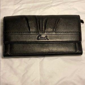 Authentic Coach black leather wallet